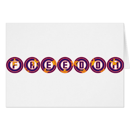 Freedom in Circles Card