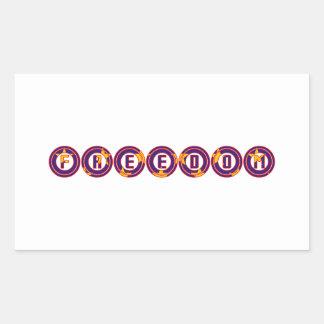 Freedom in Circles Rectangular Sticker