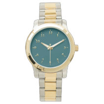Freedom in Green and Gold Watch