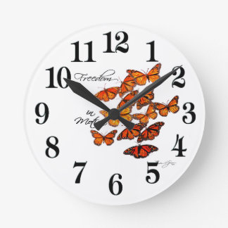 Freedom in Motion Round Clock