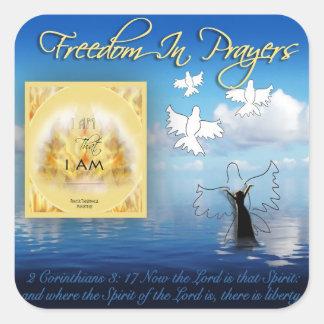 Freedom In Prayer Sticker