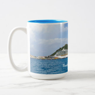 Freedom in St. Maarten Custom Two-Tone Coffee Mug