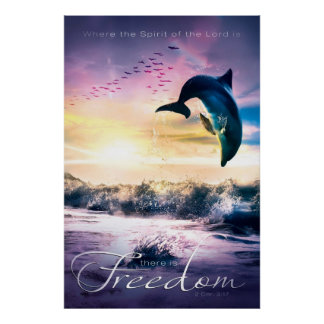 FREEDOM - Inspirational Christian Art Poster