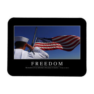 Freedom: Inspirational Quote 2 Magnet