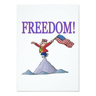 Freedom 5x7 Paper Invitation Card
