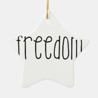 Freedom is a bird Double-Sided star ceramic christmas ornament