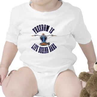 Freedom Is Life Behind Bars Baby Bodysuit