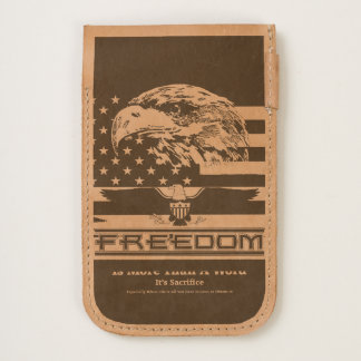Freedom Is More Than A Word Hz iP6 Leather Pouch
