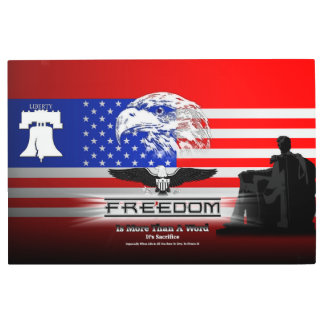 Freedom Is More Than A Word Hz Metal Print