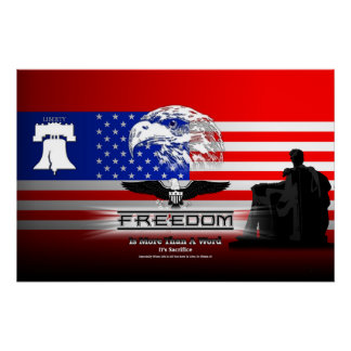 Freedom Is More Than A Word Hz Perfect Poster