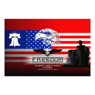 Freedom Is More Than A Word Hz Photo Print