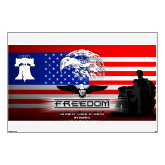 Freedom Is More Than A Word Hz Walls360 Decal