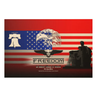Freedom Is More Than A Word Hz Wood Canvas Print