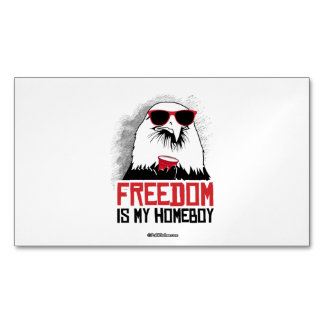 Freedom is my Homeboy Magnetic Business Cards (Pack Of 25)