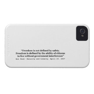 Freedom Is Not Defined By Safety Ron Paul Quote iPhone 4 Cover