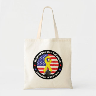 FREEDOM IS NOT FREE TOTE BAGS