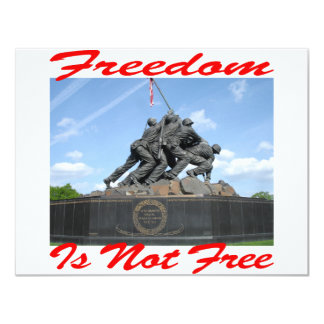 Freedom Is Not Free Card