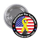 FREEDOM IS NOT FREE PINBACK BUTTON
