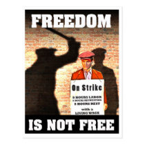 Freedom is Not Free -- Pro-Union Poster Postcard