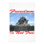 Freedom Is Not Free Stationery