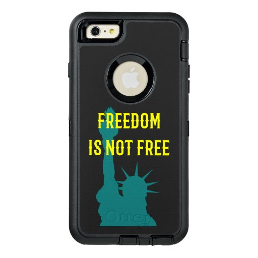 Freedom Is Not Free w/ Statue of Liberty OtterBox Defender iPhone Case