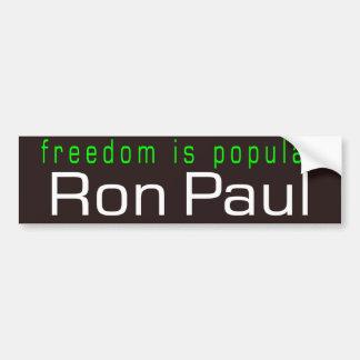 freedom is popular car bumper sticker
