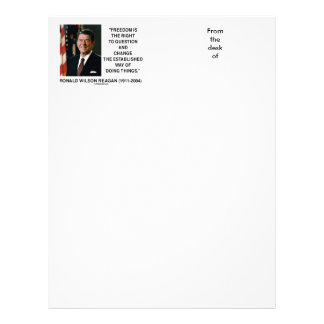 Freedom Is Right To Question Change Reagan Quote Letterhead