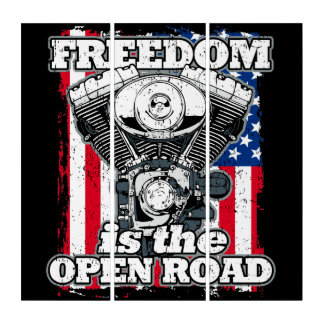 Freedom Is The Open Road Triptych