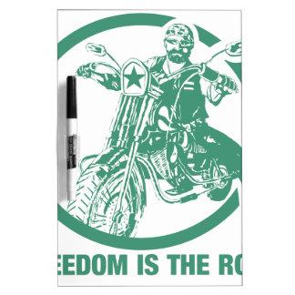 Freedom Is The Road - Biker Dry Erase Board