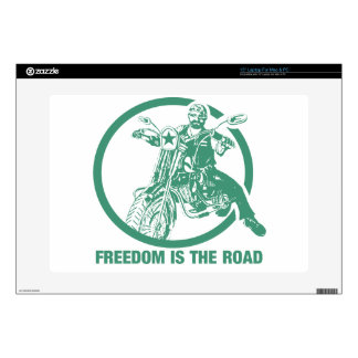 Freedom Is The Road - Biker Laptop Decal