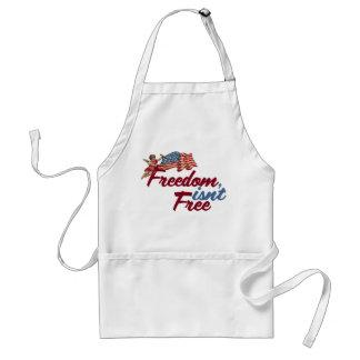 Freedom isnt free adult apron