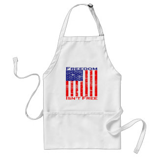 Freedom Isnt Free American Flag Adult Apron