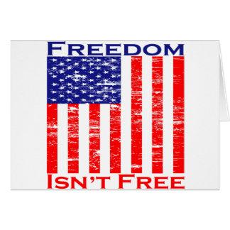 Freedom Isnt Free American Flag Card