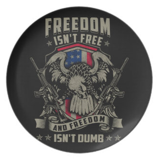 Freedom isn't Free, and Freedom isn't Dumb Dinner Plate