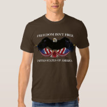 Freedom isn't free bald eagle flags crossed USA Tee Shirts