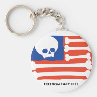 Freedom Isn't Free Basic Round Button Keychain