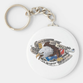 Freedom Isn't Free But It's Worth Fighting For Keychain