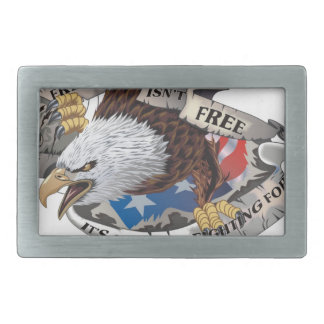 Freedom Isn't Free But It's Worth Fighting For Rectangular Belt Buckle