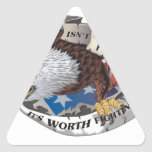 Freedom Isn't Free But It's Worth Fighting For Triangle Sticker