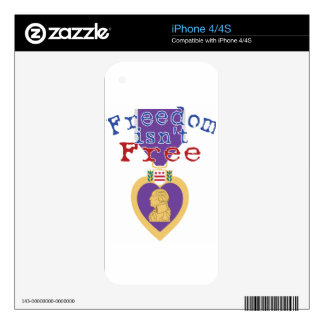 Freedom Isnt Free iPhone 4 Decals