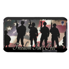 Freedom Isnt Free Military Soldier Silhouette Barely There iPod Case