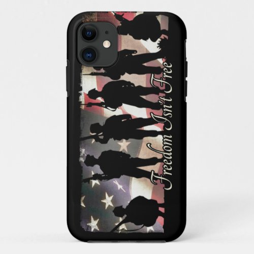 Freedom Isnt Free Military Soldier Silhouette Phone Case