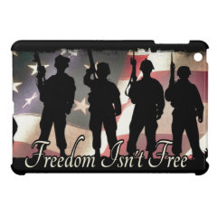 Freedom Isnt Free Military Soldier Silhouette Cover For The iPad Mini