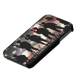 Freedom Isnt Free Military Soldier Silhouette iPhone 4/4S Case