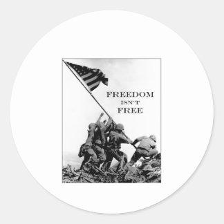 Freedom Isn't Free Round Stickers