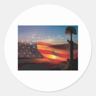 Freedom Isnt Free Round Sticker