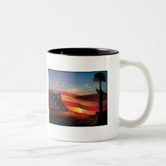 """Freedom Isn't Free"" Two-Tone Coffee Mug"