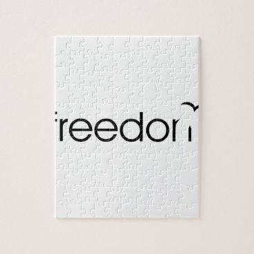 Beach Themed Freedom Jigsaw Puzzle