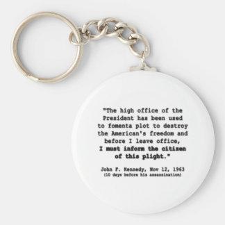 Freedom Basic Round Button Keychain