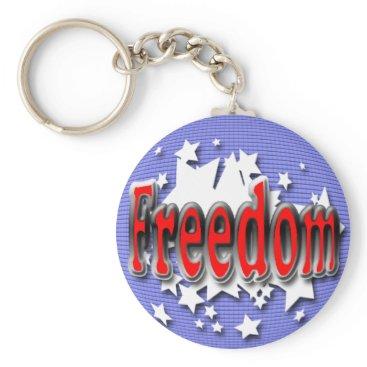 USA Themed Freedom Keychain